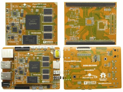 MarsBoard Rk3066 - CoM and Baseboard (Click to Enlarge)