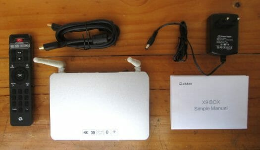Zidoo X9 and Accessories (Click to Enlarge)