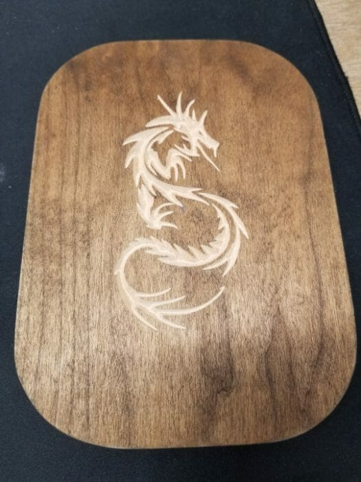 Dragon inlay CNC router