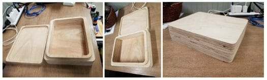 plywood box cnc router sample